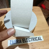 Lakban Anti slip Tangga - Anti Licin Lantai Putih Transparant 2,5cmx5M - merah putih
