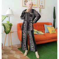 Oneset Piyama Wanita Panjang Baju Tidur Katun Rayon Premium Nagita set