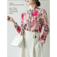 Denise Mandarin Collar Shirt Import TM 7085