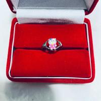 cincin anak cat hello kitty,perak 925 sepuh emas putih 43.000/pcs