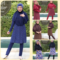 Baju Renang Muslimah Standar Motif Baru by Aghnisan Ukuran XXL