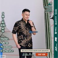 Baju batik pria kemeja batik pria cowok lengan pendek pekalongan G57 - S