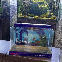 Kandila iglass 400 Bending Clear glass Aquarium 40x23x25cm