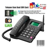 Telepon Gsm Rumah Kantor Dual Sim Card ON - Telp Telpon Phone FWP GSM