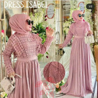 gamis maxi baju muslim dress maxy elegan mewah pesta muslimah seragam