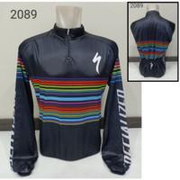 Kaos JERSEY S2089 Baju Sepeda Balap Profesional Lengan Panjang