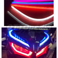 DRL LAMPU ALIS NEON LED VARIASI MOBIL MOTOR NMAX AEROX NINJA VARIO CBR