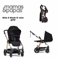 Stroller Mamas Papas Sola 2 Black & Rose gold