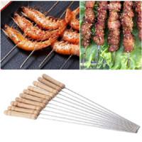 Tusukan Tusuk Sate Daging BBQ Ayam Ikan Bakar Stainless Anti Karat