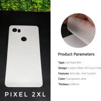 Anti Gores Google Pixel 2 XL Pelindung Belakang Film 3D skin carbon