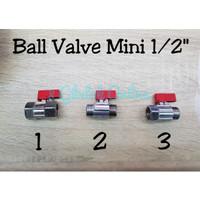 Ball Valve Mini Kuningan / Stop Kran Mini 1/2 inch