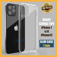 Case iPhone 11 12 Mini Pro Max Softcase Thin Bening Transparan Clear
