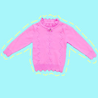 Baju Sweater Rajut Cardigan Atasan Anak Perempuan Import Real Picture2 - SIZE 8