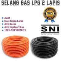 Selang Gas 2 Lapis Anti Tikus Anti Bocor SNI Orange Harga Meteran TOP