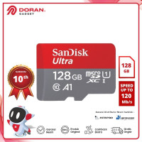 Micro SD 128GB Sandisk Ultra A1 UHS-I up to 120Mb/s - Garansi Resmi