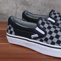Sepatu Vans Slip On Pointer Pewter Catur Checkerboard Grey Black