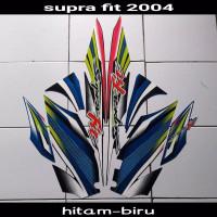 striping sticker lis body supra fit old lama disc 2004 hitam biru