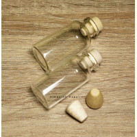 Bottle Clear Charm 20ml / Botol Kaca / Clay / Clat / Vial / Pinisilin