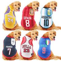 Jersey Anjing Medium & Besar / Baju Bola & Basket Anjing Besar / Kaos