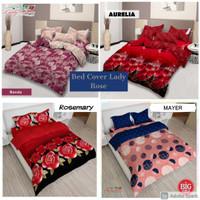 Bed Cover Set Lady Rose King Size Flat 180x200 motif terbaru grosir
