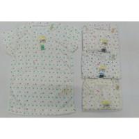 Nary Oblong Tipis Tangan Pendek Print Baju Polos Anak Daleman Bayi