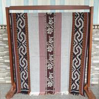 kain batik tenun jepara ethnic blanket mawar toraja silver coklat