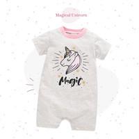 Romper Bayi / Jumper Bayi / Baju Kodok Bayi 0-12 Bulan - Unicorn