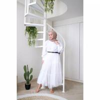 Kelana Long Tunik Fashion Muslim Atasan Busui - Putih