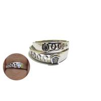 RC 011- Cincin Couple Perak Sterling 925 Emas Putih ASLI Korea-Garansi