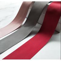 Pita Ribbon Hiasan Kado Maroon Red Elegan 5 CM Natal Imlek Meter