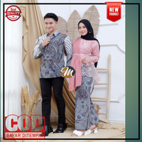 Batik Couple Kebaya Atasan Wanita Brokat Modern Baju Kondangan lamaran - dusty