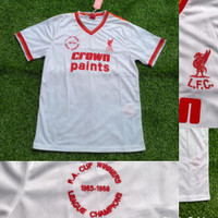 JERSEY BOLA LIVERPOLL AWAY RETRO FA CUP WINNER 1985-1986 GO IMPORT - S