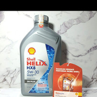 SHELL HELIX HX 8 KEMASAN 1 LITER / OLI MOBIL / 100% ASLI