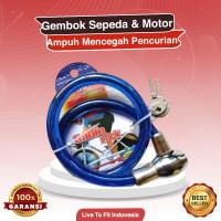 Cable Lock / Gembok Sepeda Motor / Kunci Pengaman Helm Rumah Sepeda