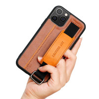 iPhone 11 11 Pro 11 Promax Casing Handstrip Card Leather Art Ring Case