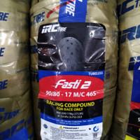 ban balap IRC FASTI 2 uk 90/80-17 ring 17 Slick Tire Soft Compound