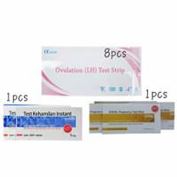 [8pcs] Ovulation LH Test Strip [2pcs] Test Hamil Strip