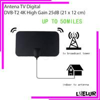 Antena Indoor TV Digital DVB-T2 4K High Gain 25dB