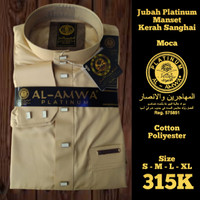 Jubah Pria Al Amwa Platinum Lengan Panjang Manset