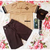 Seragam SD Pramuka Siaga Laki Celana Pendek Baju Pendek