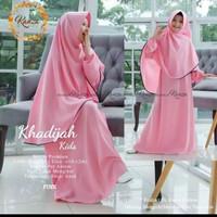 Khadijah kid/ baju muslim anak tanggung/ gamis anak free 7 - 15 th