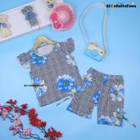 Setelan Oceana Bayi-3 Tahun / IMPORT Baju Lengan Pendek Anak Perempuan