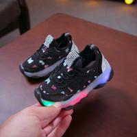 Sepatu Sneakers LED Anak Laki-laki & Perempuan Motif 012 Import -Murah