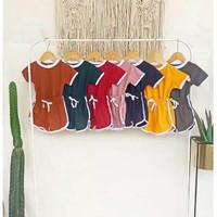 setelan baju anak unisex polos playset tumble tee 1-5 tahun warna retr