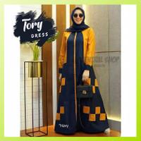 Baju Gamis Tory Dress Wanita Muslim Murah Polos Jumbo Terbaru Pesta