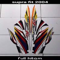 striping sticker lis body supra fit old lama disc 2004 full hitam