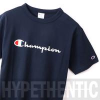 Champion Men Heritage Script Logo Tee Navy Blue Original / Baju Pria - Maroon, S