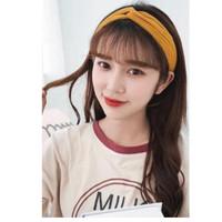 Bando Polos Salur Motif Bando Bandana Simpul Korea / Headband
