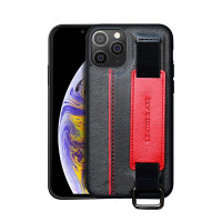iPhone 12 Mini 12 Pro 12 Promax Casing Handstrip Card Leather Art Case - Hitam, iPhone 12 mini