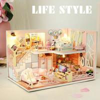 Diy miniatur dollhouse Hanasaku/miniatur rumah boneka